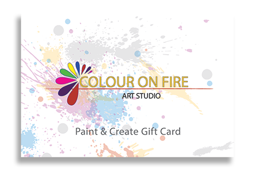 Gift Cards are available from Colour on Fire Art Studio in Calgary